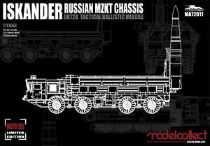 Modelcollect 1/72 Kits ISKANDER MZKT Chassis 9K720 Ballistic Missile MA72011