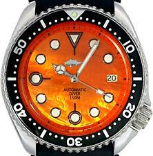 Vintage SEIKO diver Orange MOP dial MERCEDES hands MOD Genuine 7002 case & movt.