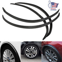 4x Carbon Fiber Car Wheel Eyebrow Arch Trim Lips Strip Fender Flare Protector US