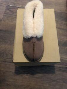 Size 7 Chestnut Sheepsking Slippers