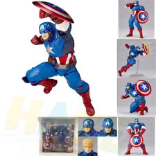 Marvel Comics Yamaguchi Captain America Action Figure Statue Toy 7cm New In Box