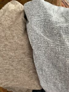 Large Fabric Pieces Hacci Knit Brushed Sweater Stretch Gray Light Brown