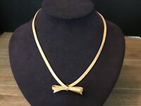 Chris. Dior Germany 1960's Mesh Gold Bow/Ribbon Necklace VERY RARE Vintage