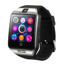 Cawono Bluetooth Smart Watch Phone Camera for iPhone Camera GSM SIM Slot Q18 BK