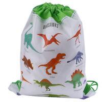 Dinosaur Gift Bag Non-woven Bag Backpack Kids Travel School Drawstring Bags SE
