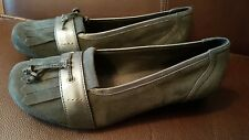 Hotter Allegra Women Grey Suede Shoes Size 4 New Without Box