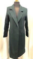 Ladies  Buttonless Winter Coat in Dark Green UK M