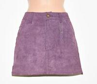"""Vintage Purple Leather H&M Pencil Casual Mini Short Women's Skirt Size W33"""" L14"""""""