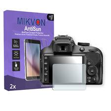 2x Mikvon AntiSun Pellicola protezione del display per Nikon D3400 Ed accessori