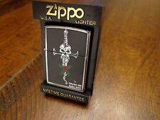 SKULL SWORD RED ROSE SOHO HIGH POLISH CHROME ZIPPO LIGHTER MINT IN BOX 1995