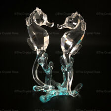 RARE Retired Swarovski Crystal Seahorses 885589 Mint Boxed Aquatic Worlds