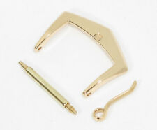 Patek Philippe Buckle 16mm - 18K Solid Yellow Gold - with new leather strap