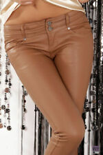 Sexy Leather - Look High Quality Low Rise Skinny Trousers Jeans K 560