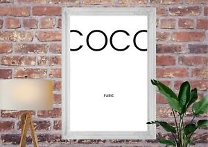 Coco Quote Poster Print | A4 Wall Art Home Decor Gift Idea | A4 Fashion Prints
