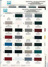1998 MAZDA 626 929 TRUCK PROTEGE MIATA MX6 PAINT CHIPS (DUPONT PPG)