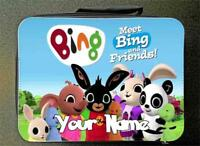 BLACK Personalised Custom Bing Bunny Style Insulated Lunch Bag 24CM X 18CM