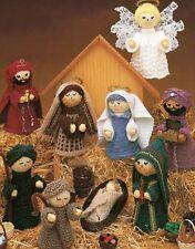 Christmas Navity Set Angel Jesus Joseph Mary Three Wisemen Shepherd 4ply 971