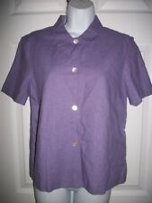 Casual Corner Annex Women's Lilac Purple Linen Blend Shirt Size 4
