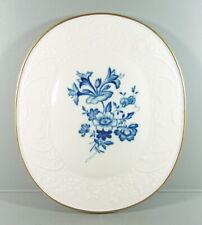Meissen - Zierplatte aus Meissner Porzellan - Prägerand mit Blauer Blume 1.Wahl