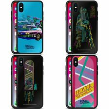 BACK TO THE FUTURE I COMPOSED ART BLACK HYBRID GLASS BACK CASE FOR iPHONE PHONES