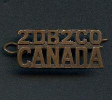 WW1 Canada 2nd Depot Battalion Shoulder Title 40 mm x 18 mm