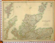 1899 LARGE ANTIQUE MAP NORTH SCOTLAND SUTHERLAND CAITHNESS HEBRIDES ISLE OF SKYE