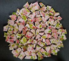 "Vintage Mikasa ""Pink Garden"" Mosaic Tiles Pink & Green Floral ~ (4) Available"