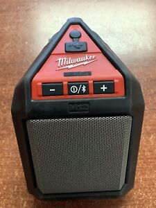 Milwaukee 2592-20 12v M12 Wireless Job site Speaker Bluetooth Red / Black Tested