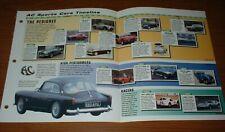 ★★ 1953-98 Storia di il AC Sports Auto Brochure Shelby Cobra Immagine Timeline