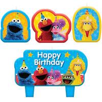 "Sesame Street Birthday Party Supplies ""ELMO, BIG BIRD & MORE"" Cake Topper Candle"
