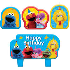 "Sesame Street Birthday Party Supplies ""ELMO, BIG BIRD & MORE"" Cake Topper Candle"