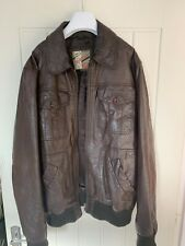 Mens Leather Top Man Jacket Size Large