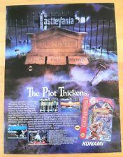 Castlevania Bloodlines Poster Ad Print Sega Genesis