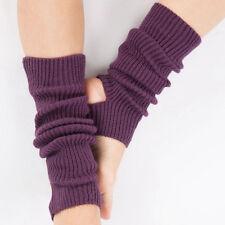 Women Soft Crochet Dance Pilates Yoga Leg Warmers Boot Cuffs Socks