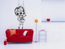Vinyl Sticker Scary Creepy Doll Puppet Halloween Horror Decal Wall Decor hi322