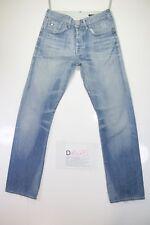 G-Star 3301 (Cod. D1475)Tg44 W30 L34 jeans usato Vita Alta Vintage Fashion retrò