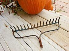 New ListingVtg Iron Metal Garden Rake Head Wine Glass Rack Jewelry Steampunk Art Belt Hook