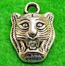 10Pcs. Tibetan Silver TIGER LION Charms Pendants Earring Drops Findings AN004