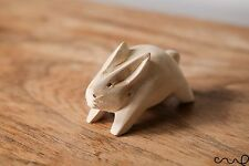 Handmade Handcrafted Wooden Rabbit Easter Bunny Figurine Ornament Craft VAT
