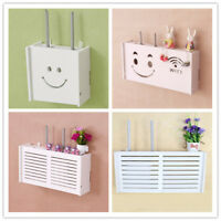 Wifi Router Storage Box Plastic Shelf Wall Hangings Bracket Cable Organizer