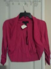Isabella Rodriguez Pink Open Cardigan Sweater  Size Small ~ Shrug NWT