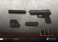 "ZYTOYS ZY2009D MK23 SOCOM Pistol Weapon Gun Model 1/6 Miniature Toy F 12"" Figure"