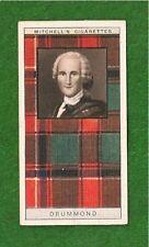 CLAN DRUMMOND CLAN or Druimeanach TARTAN 1927 original card Honour Crowns Virtue
