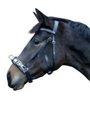 HKM Kappzaum, Leder, schwarz, Gr. Pony  Art.1033