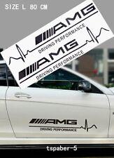 Pair AMG Driving Emblem Fender Side Badge Waistline Sticker Body Side Decal Door