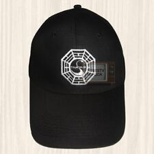 Lost Dharma Initiative Logo Black Hat LaFleur Sawyer Jack Cap Embroidered