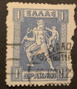 1911 Greece Roul 1d Blue FU stamp SG225