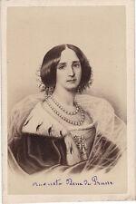 Photo cdv : Neurdein ; Portrait de la reine de Prusse , vers 1865
