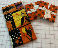 New listing Witchful Thinking Clothworks Main Panel & 2 -5� square charm packs Halloween
