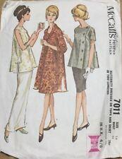 VTG 60s McCalls Maternity Dresses Or Tops & Skirts In 2 Lengths Size 16 Bust 36